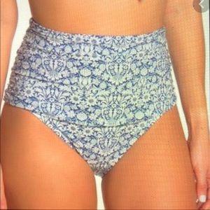 Athena High Waist Floral Bikini Bottom NWOT-10